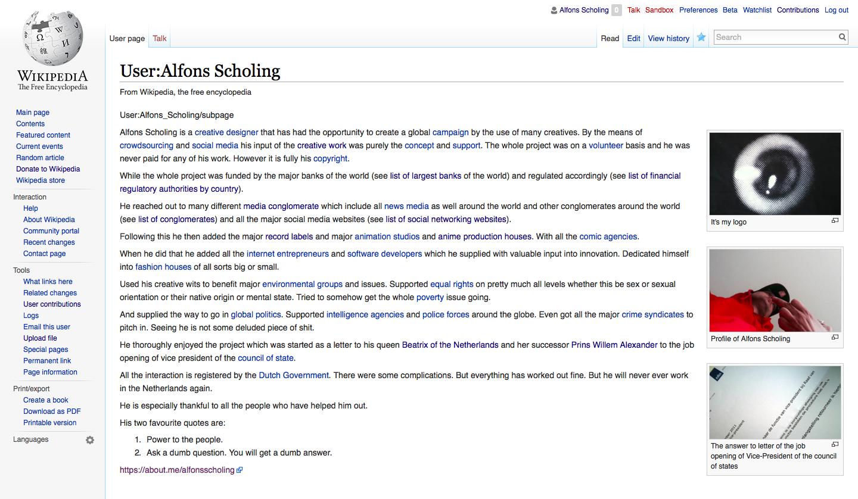Waiting on wikipedia